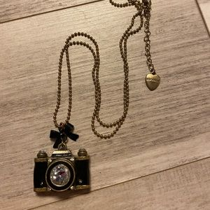 Rare Betsey Johnson camera necklace